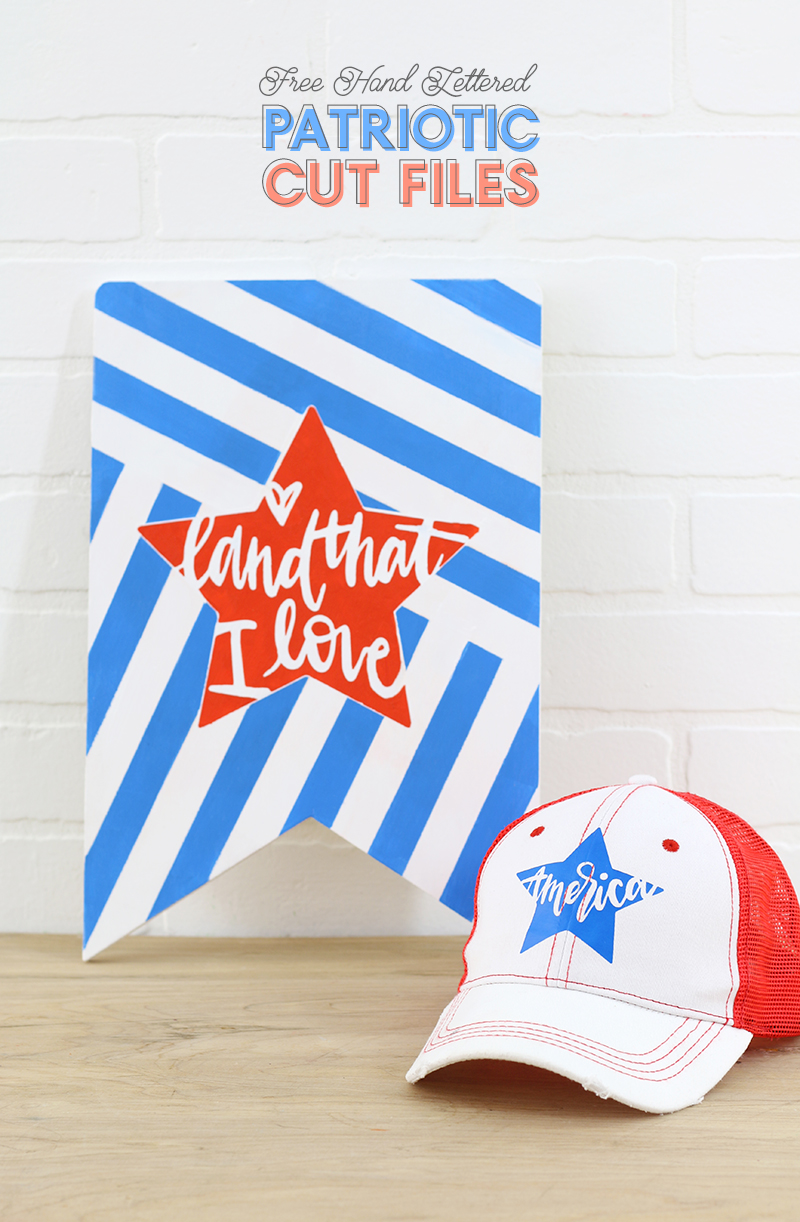 Free Hand Lettered Patriotic Cut Files For The Silhouette Persia Lou