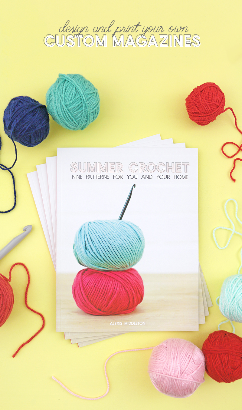 design and print your own magazine with blurb - I made a fun summer crochet pattern book!