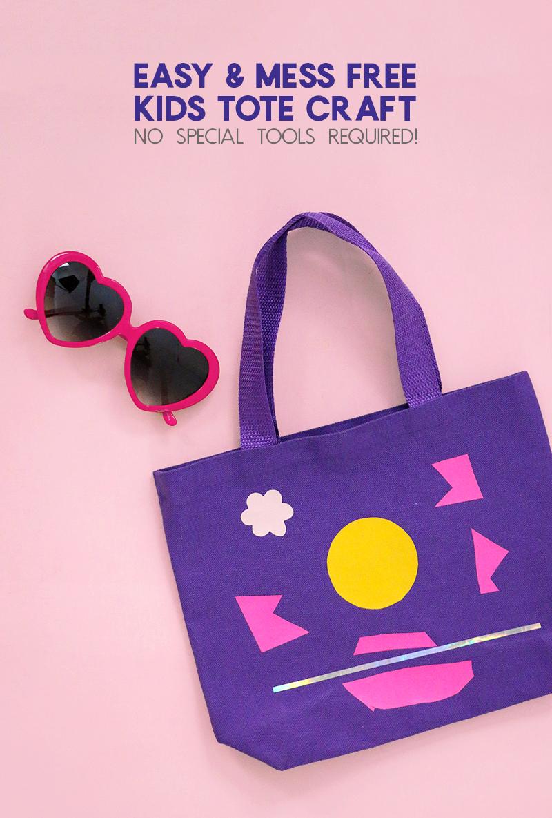 tote bag craft - easy, mess free kids craft idea