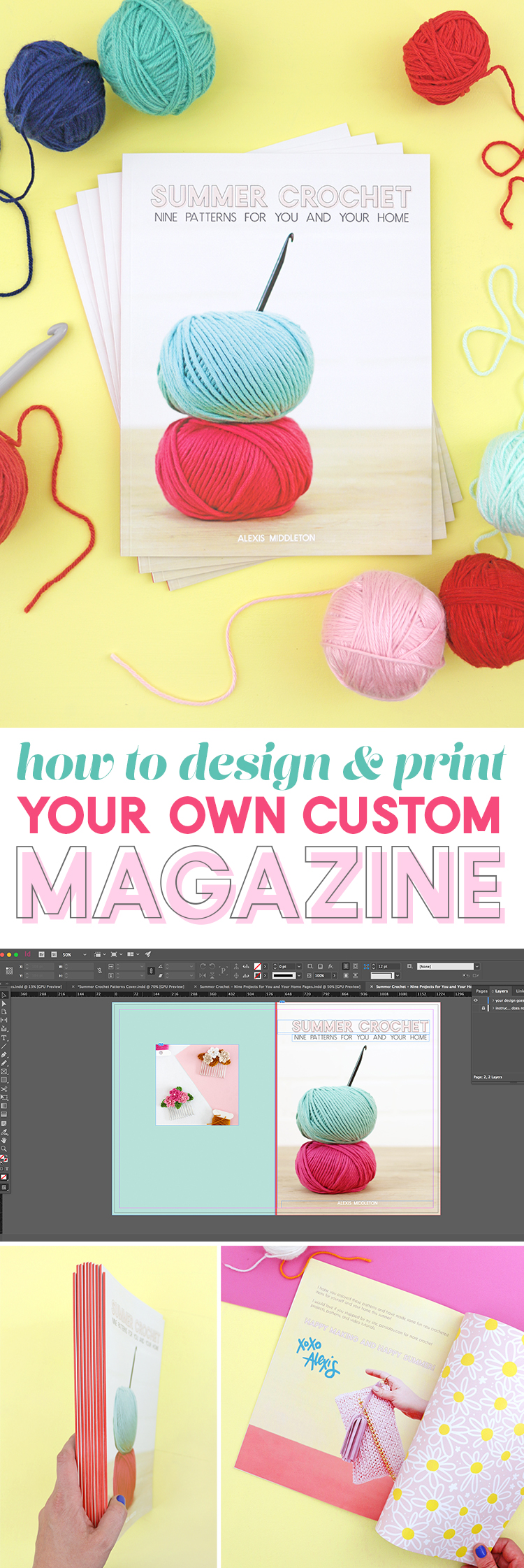how to design and print your own custom magazine