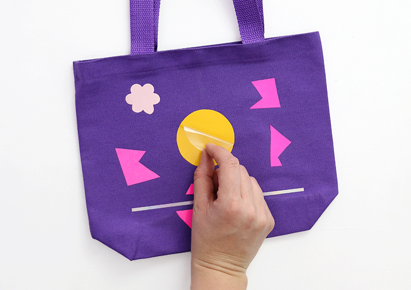 peel off plastic - heat transfer vinyl kids craft tote bag