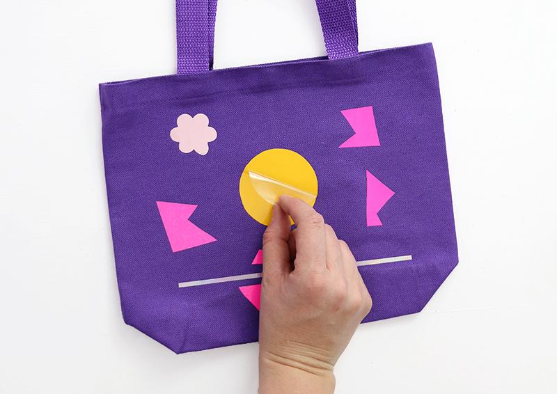 peel off plastic - heat transfer vinyl kids craft tote bag