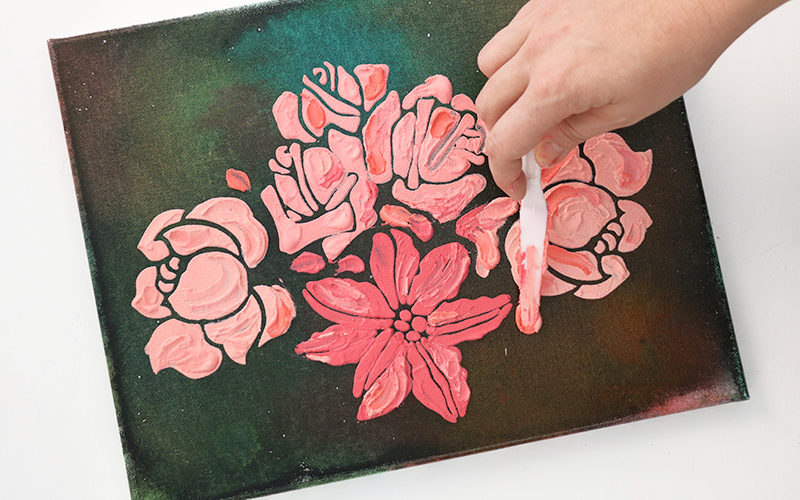Multi-Media Textured Floral Art at Crafts Unleashed