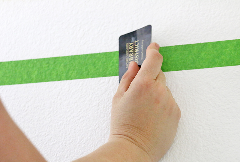 burnish tape - how to get perfect paint lines