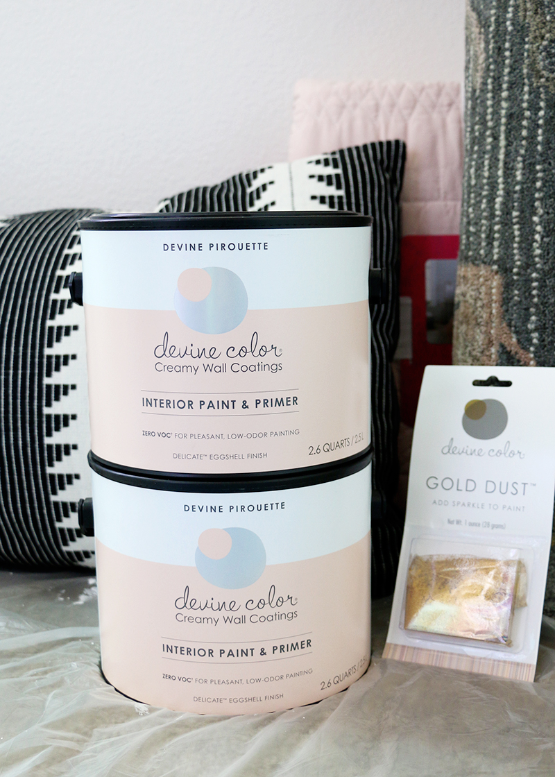 devine color pirouette paint - diy scalloped wall