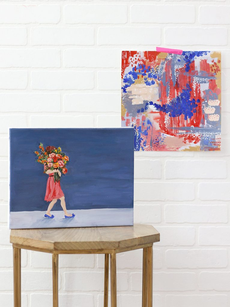 How to Paint Two Paintings at Once – DIY Art Technique