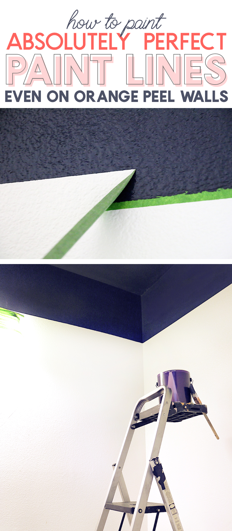 how to get perfect paint lines even on orange peel walls