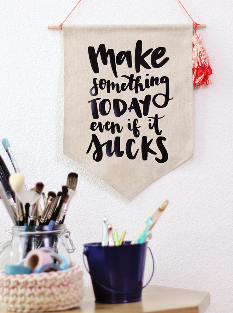 """make something today even if it sucks"" free cut file for silhouette or cricut"