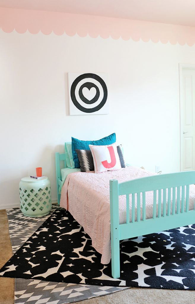 sweet scalloped girls room makeover
