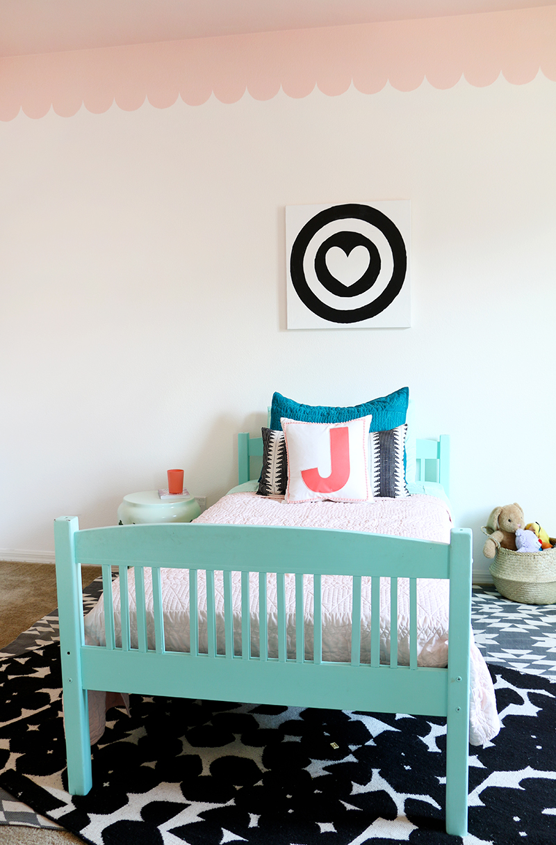 sweet and modern girl's room makeover