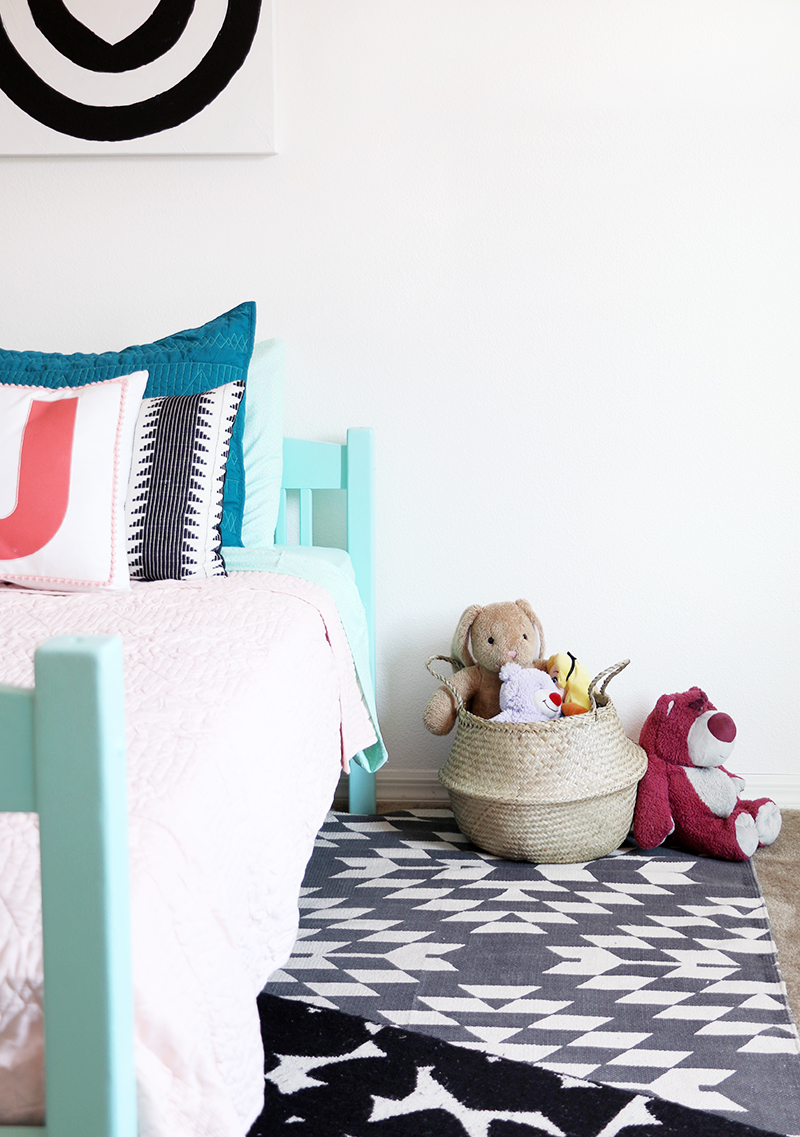 modern girl's room makeover