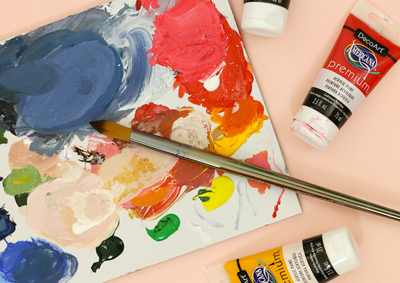 acrylic painting technique supplies