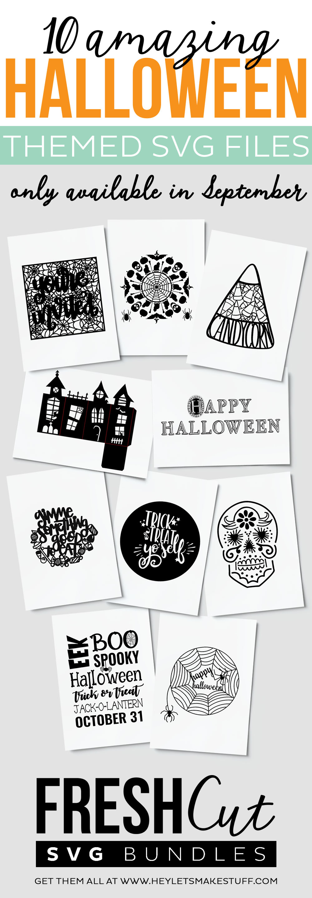 10 Amazing Halloween SVG cut files - perfect for all your Halloween craft projects