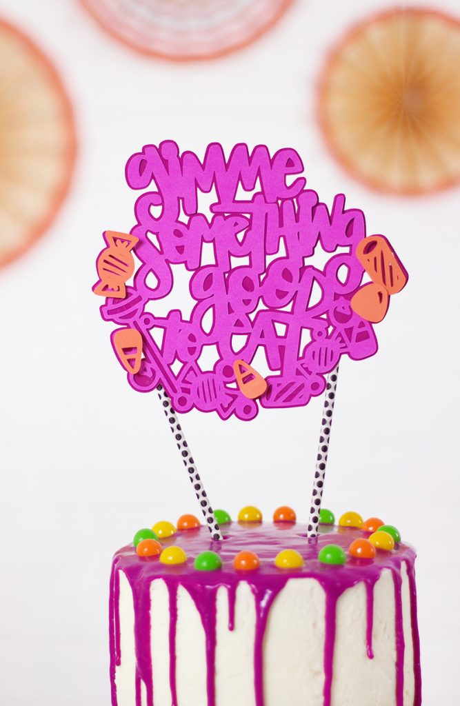 Gimme Something Good to Eat Candy Cake Topper