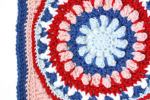 The Layered Dahlia: 12 Inch Afghan Square Pattern