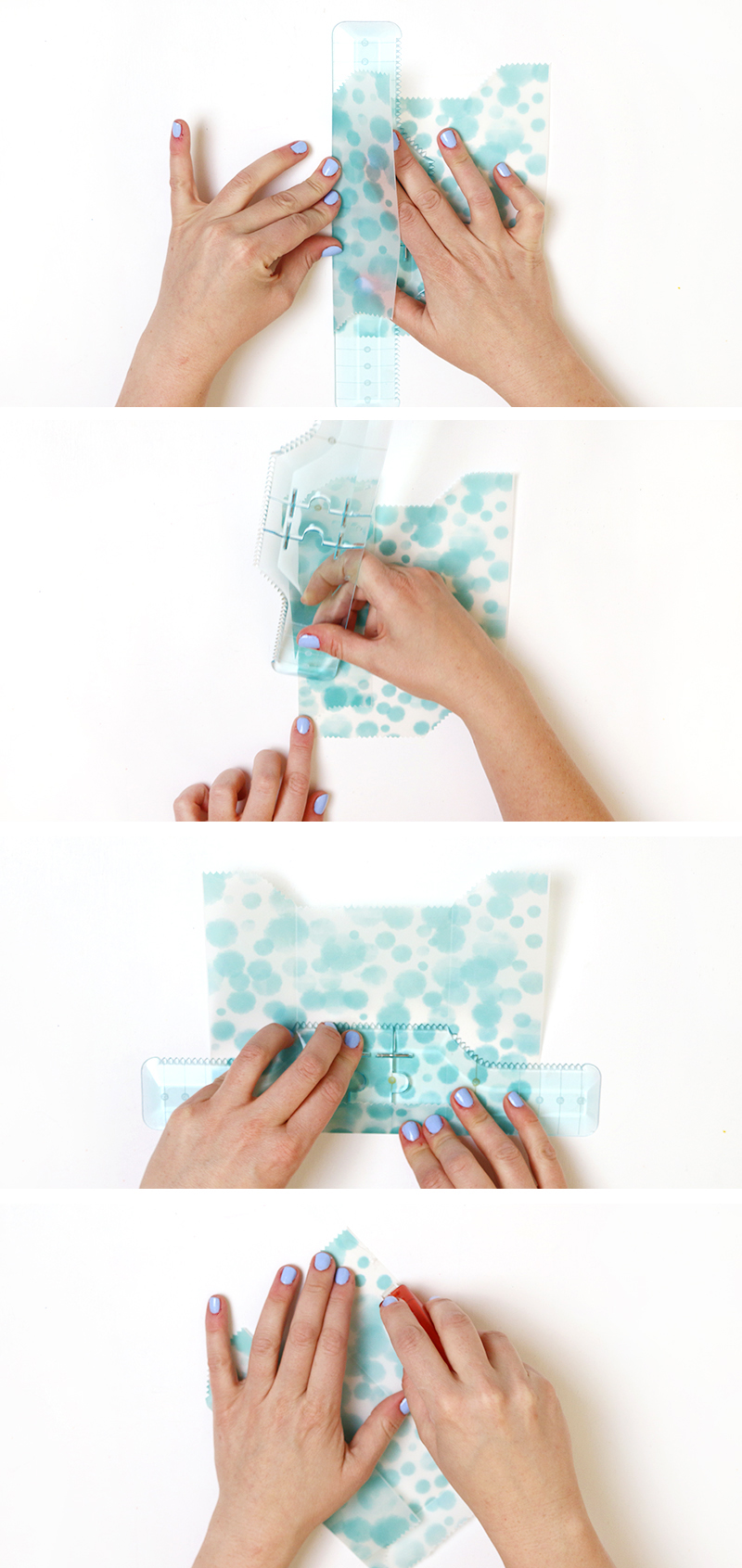 fold and glue - diy goodie bags