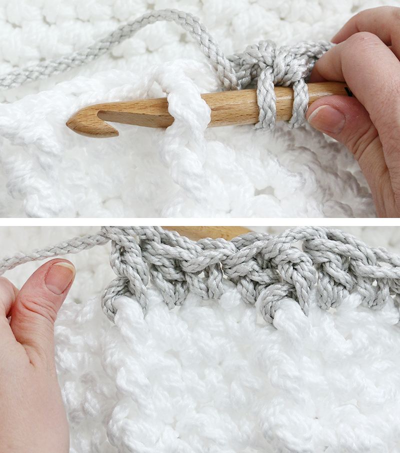front post stitch crochet