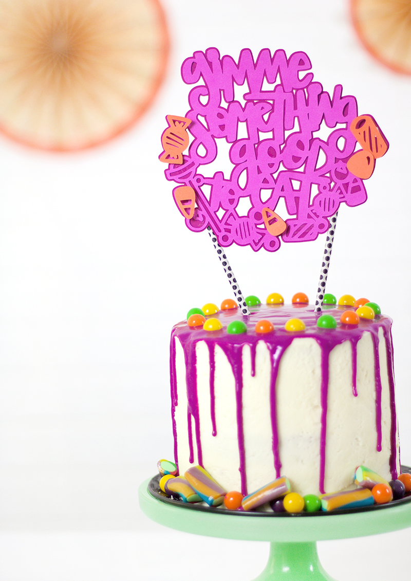 DIY halloween cake topper - Halloween candy cake SVG cut file