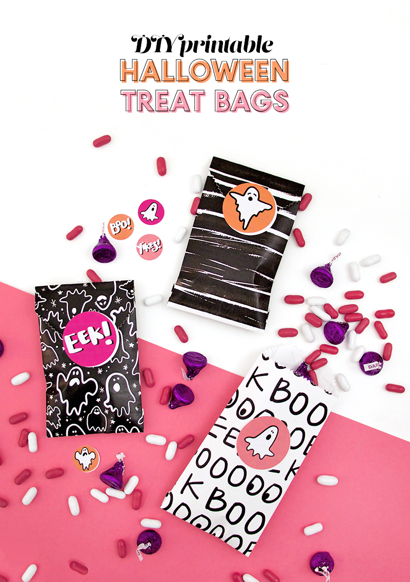 halloween goodie bags! free downloads - diy printable treat bags