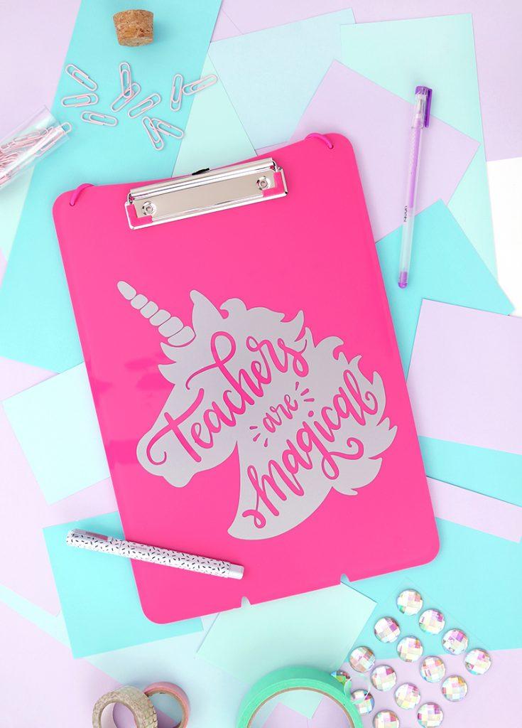 Unicorn Teacher Appreciation Gift Idea – Free Cut File