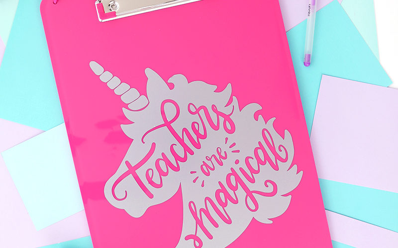 Unicorn Teacher Appreciation Gift Idea – Free Cut File