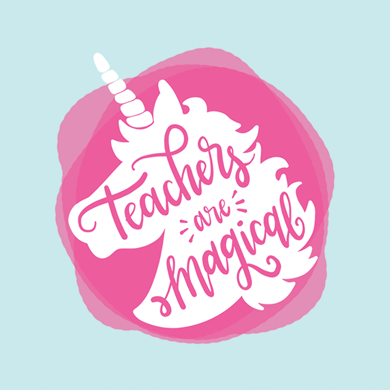 teachers are magical - free printable and cut file