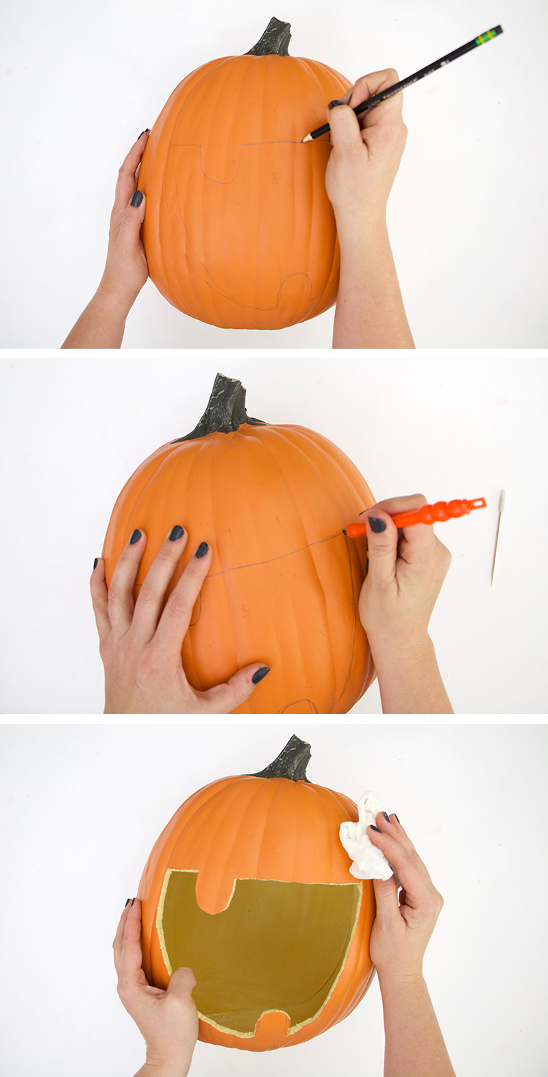 Diy pumpkin candy bowl diy halloween candy banner persia lou