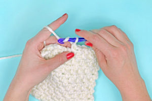 How to Crochet the Moss Stitch (Granite, Linen Stitch)