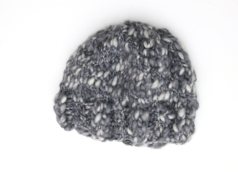 simple thick and thin knit hat finished hat