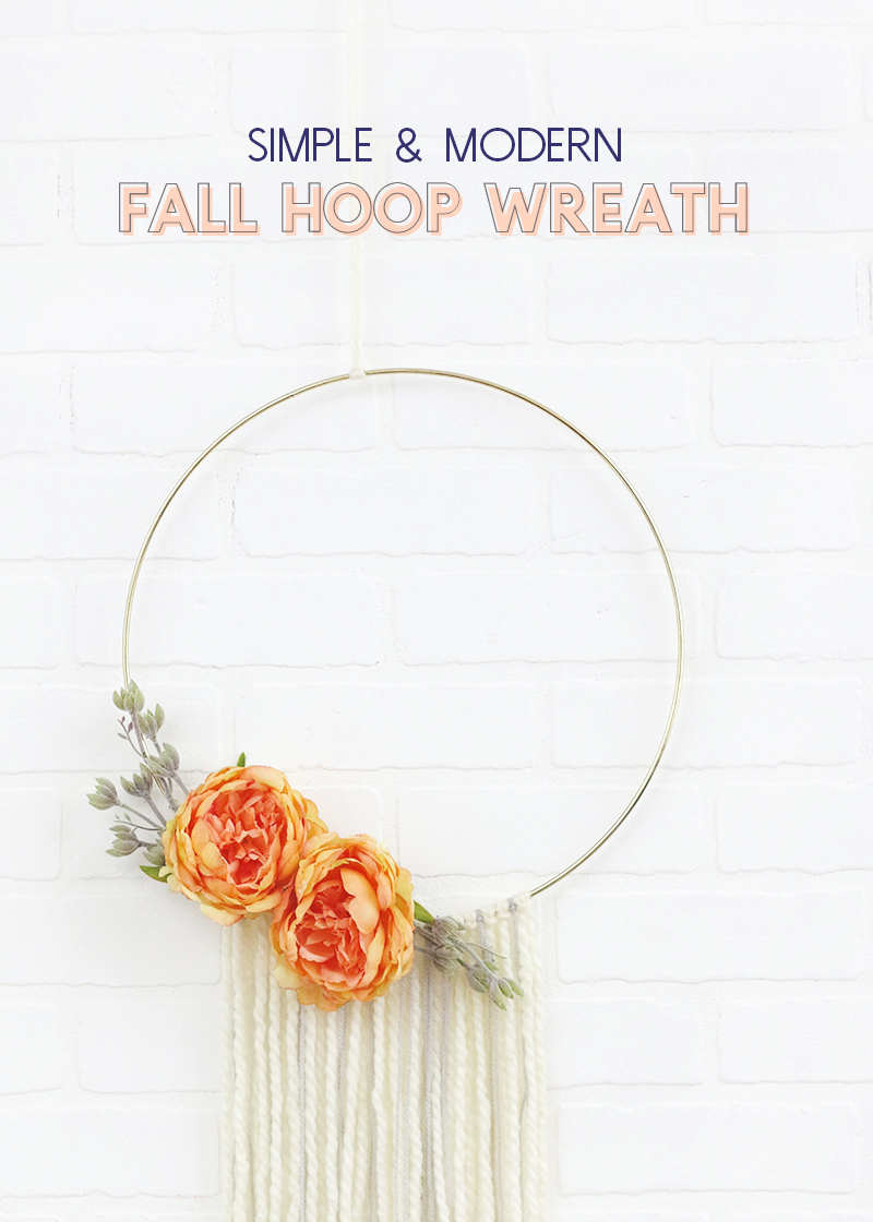 Diy Modern Fall Wreath Quick And Easy Fall Hoop Wreath Persia Lou