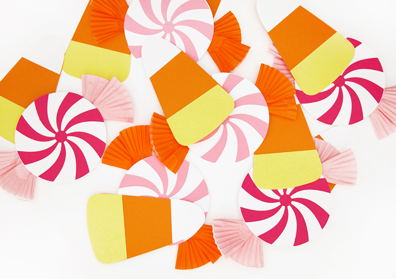 paper candy - diy halloween candy garland