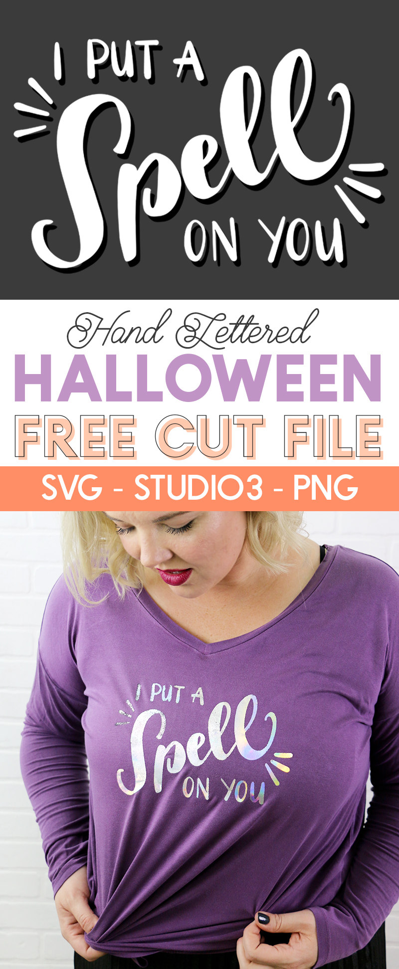 free i put a spell on you svg cut file for Halloween