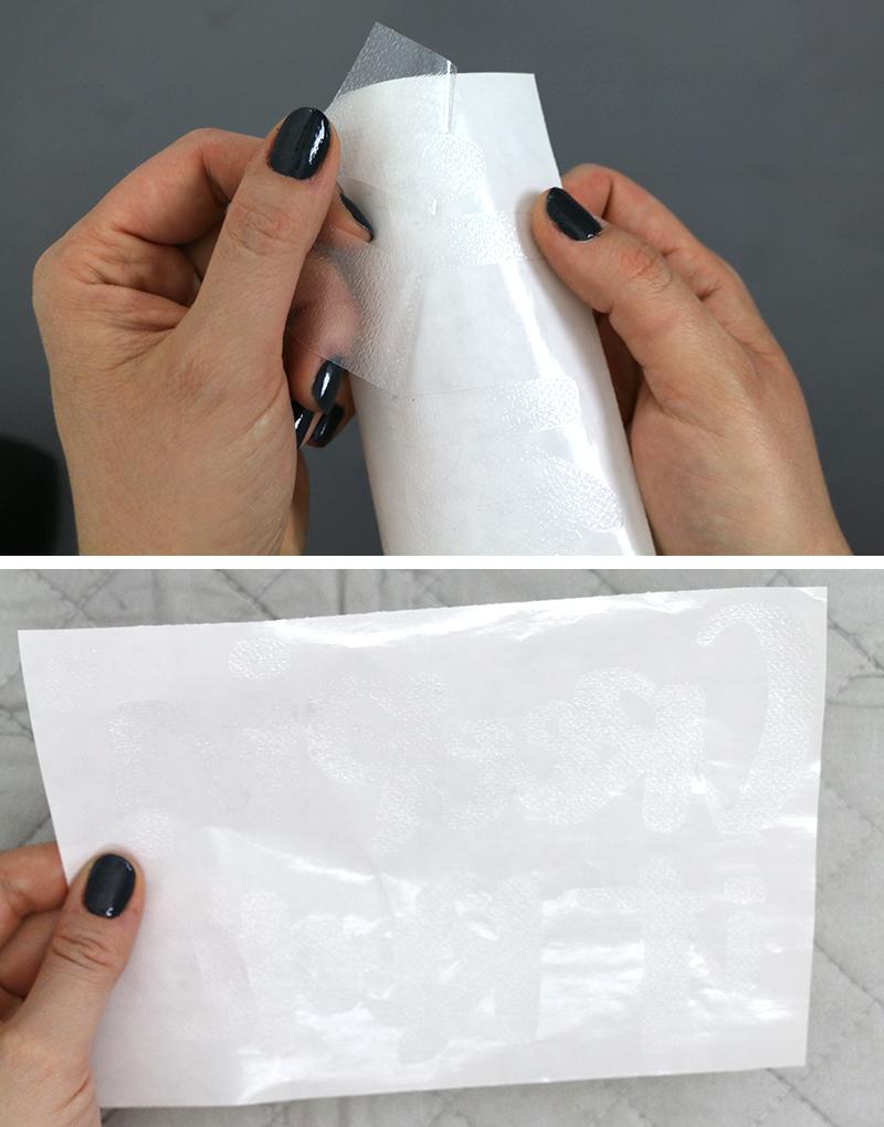 diy custom foil shirts adhesive