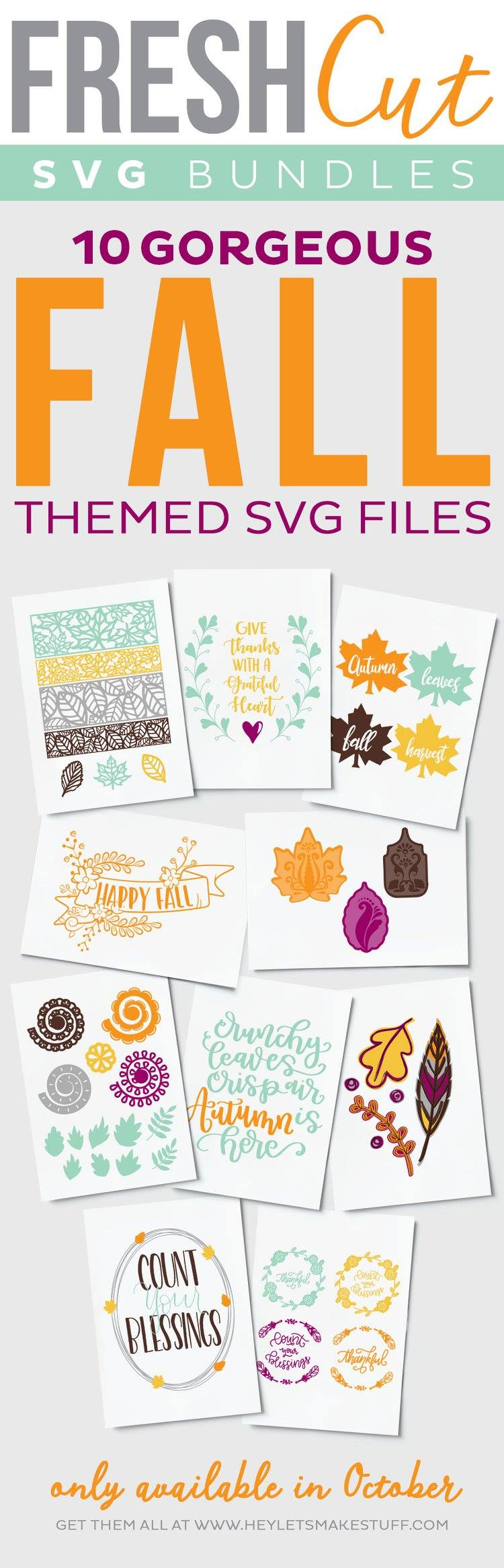 fall decor svg files - perfect for fall and thanksgiving - svg cut files for silhouette and cricut