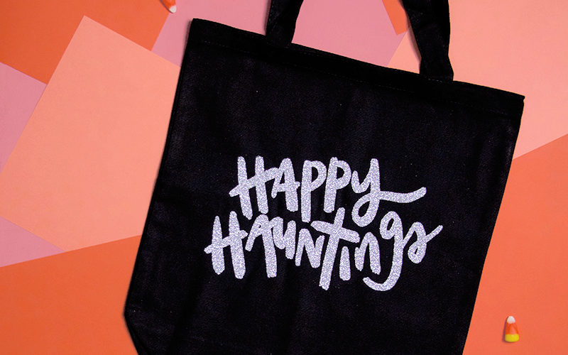 Happy Hauntings Halloween Tote at Crafts Unleashed