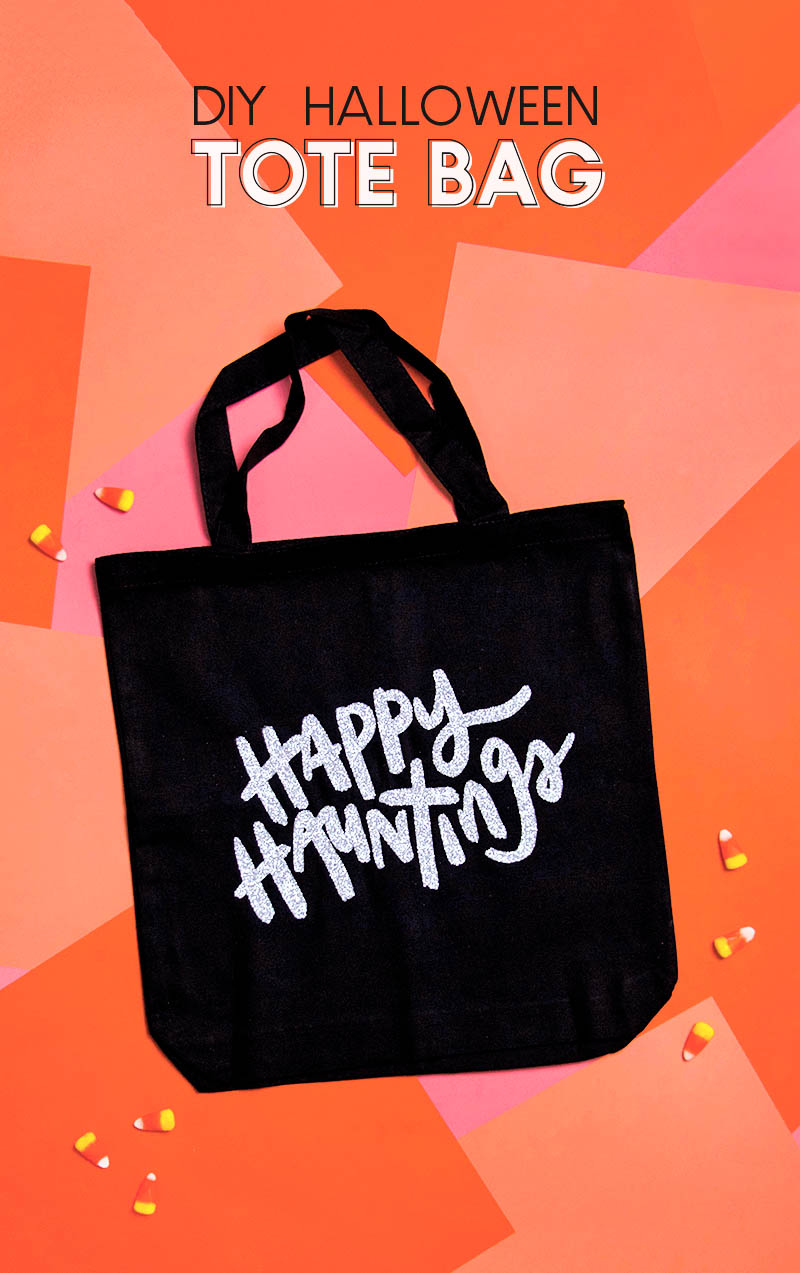 diy happy hauntings halloween tote bag free svg cut file