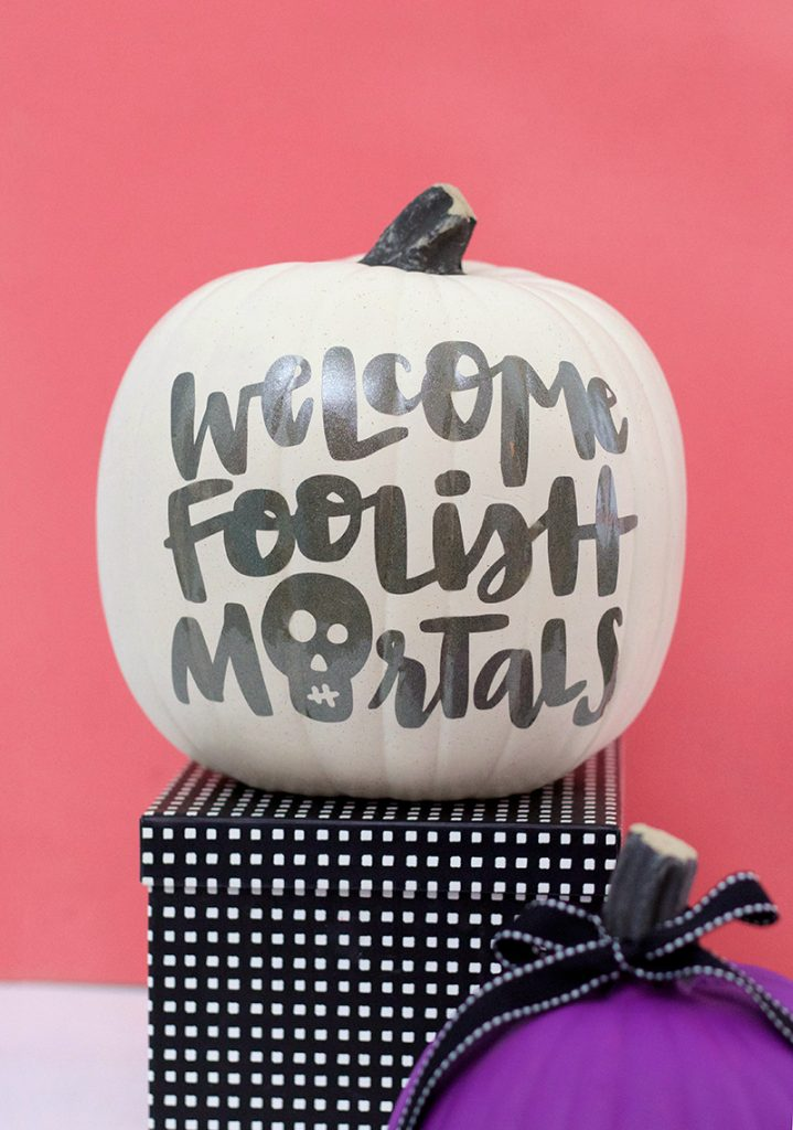 Haunted Mansion Inspired Pumpkin Craft – Free SVG Cut File
