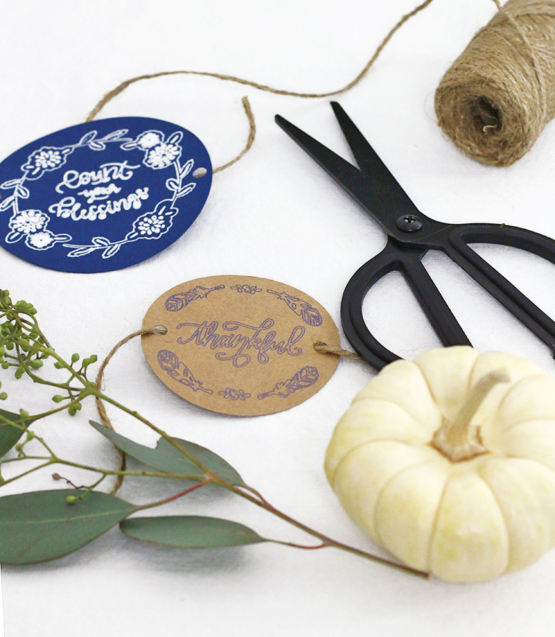 diy thanksgiving place setting tags