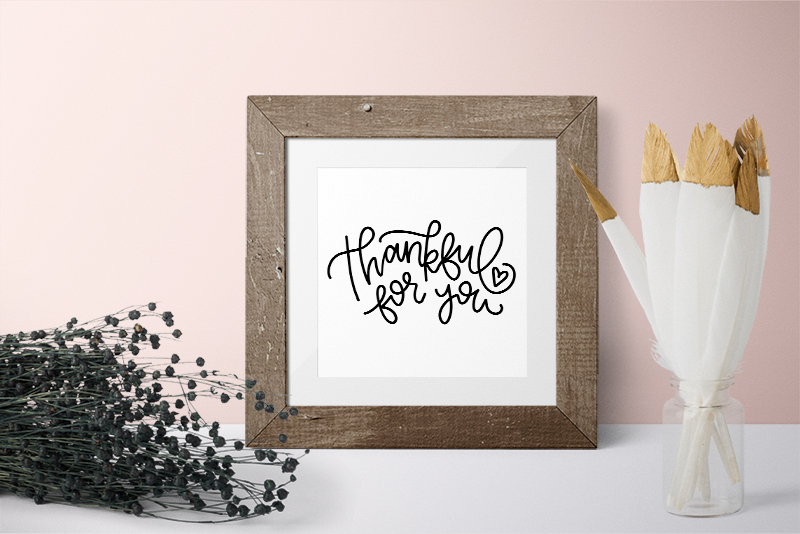 thankful for you print - thanksgiving svg cut file