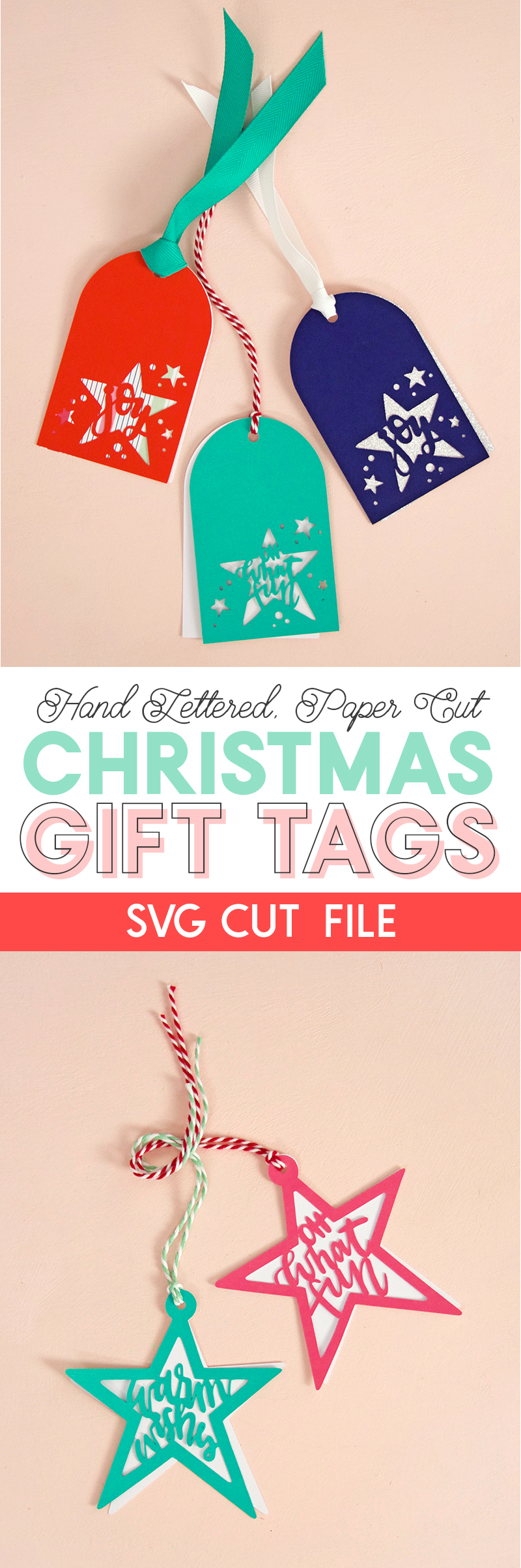 paper cut christmas gift tags - svg cut file - make your own tags with your silhouette or cricut