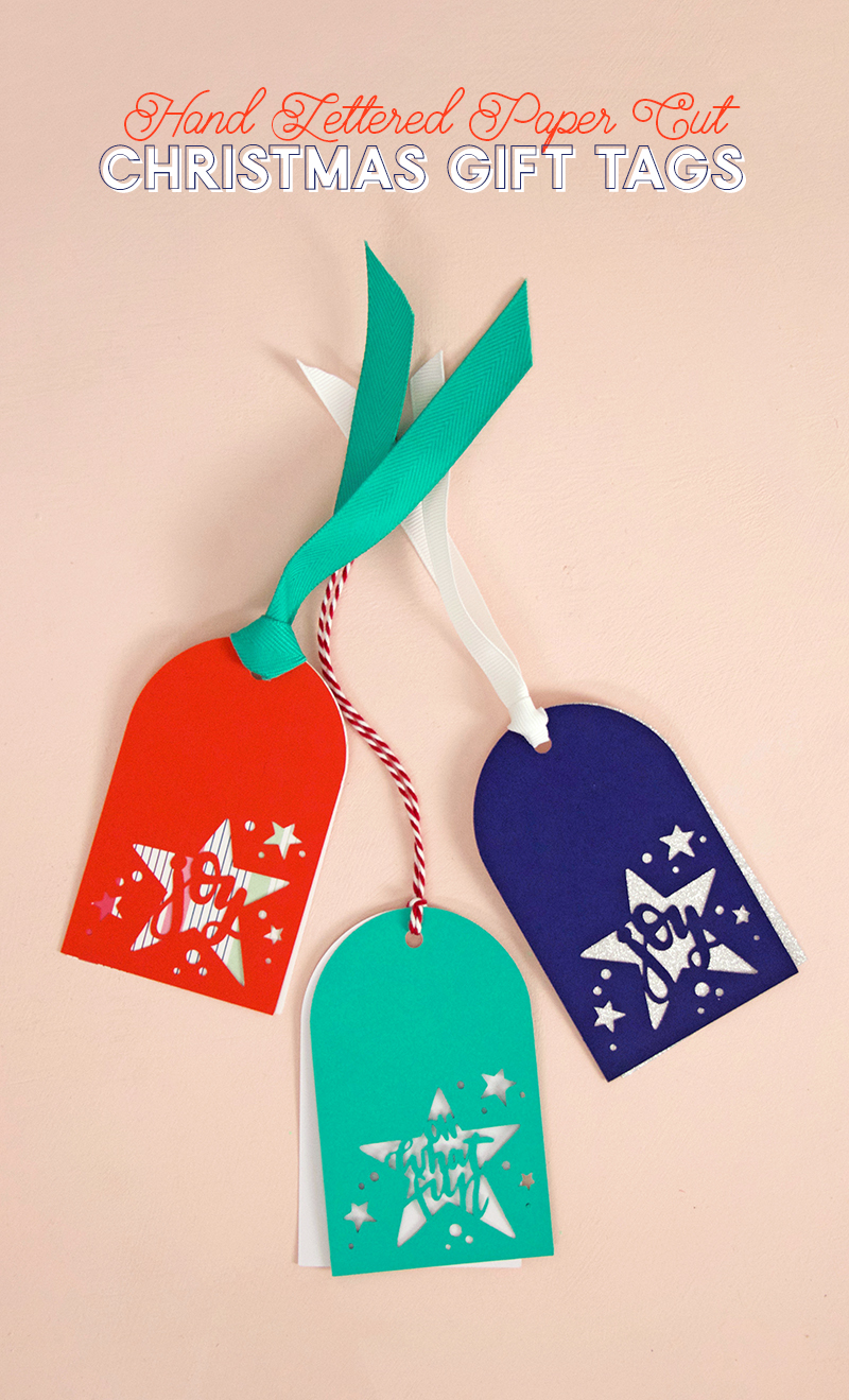 paper cut christmas gift tags - svg cut file