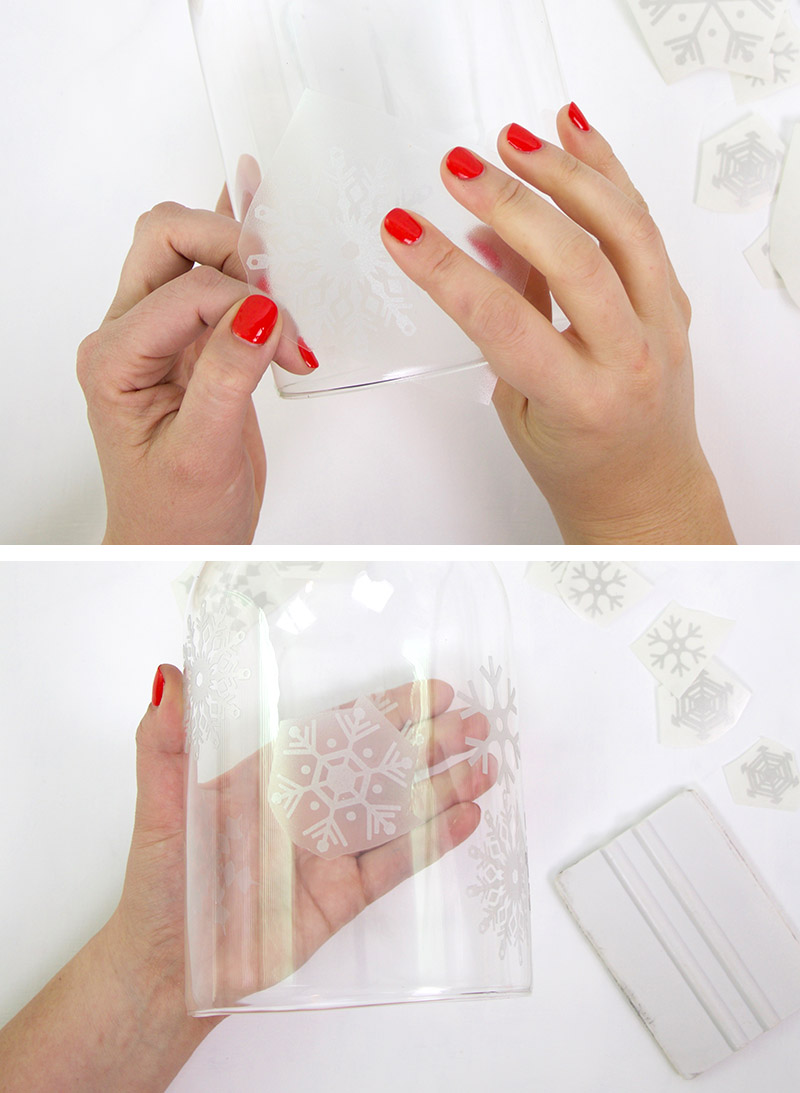 How to Work with Etched Glass Vinyl & Free Snowflake SVG File ...