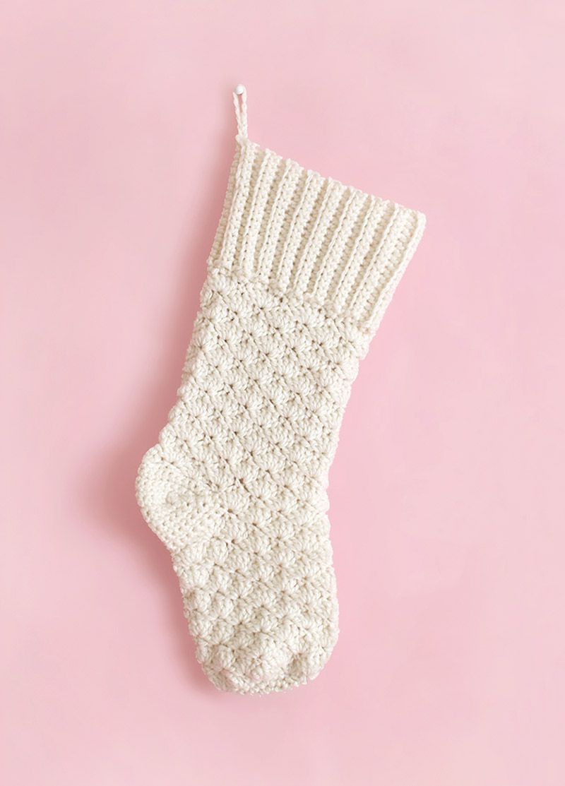 Crochet Christmas Stocking - Free Crochet Pattern - Persia Lou