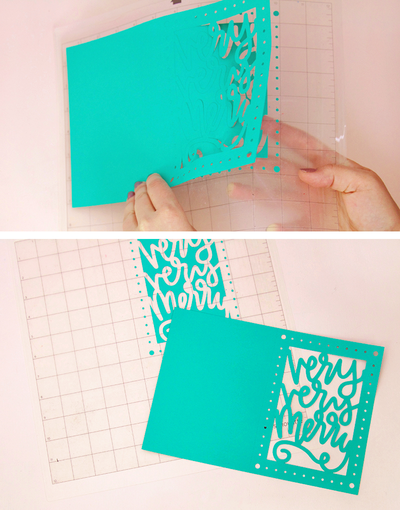 cut - christmas card DIY