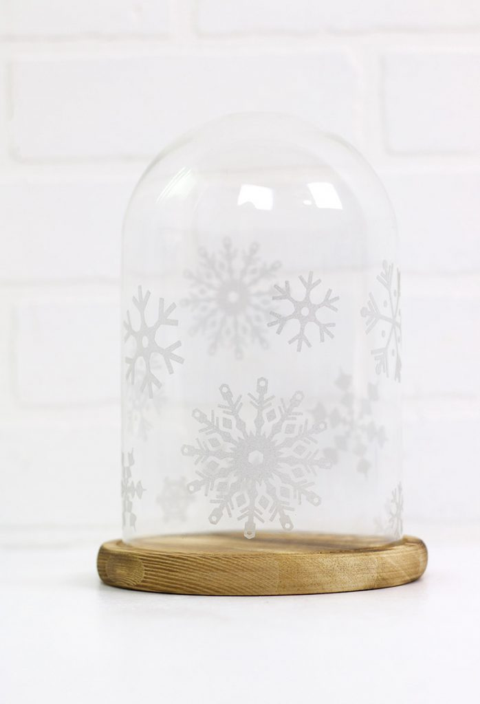 How to Work with Etched Glass Vinyl & Free Snowflake SVG File