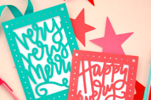 Paper Cut Christmas Card DIY – Free SVG Cut Files