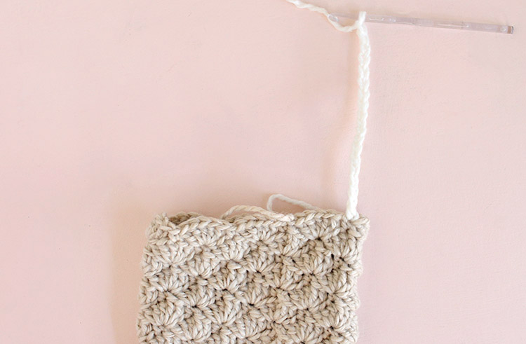 crochet stocking - add the cuff