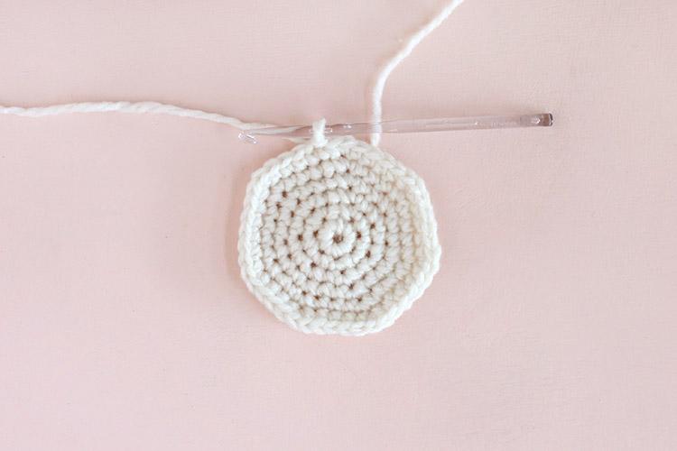 crochet christmas stocking step one