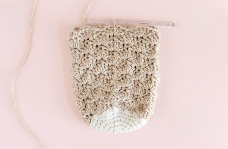 christmas stocking crochet step three