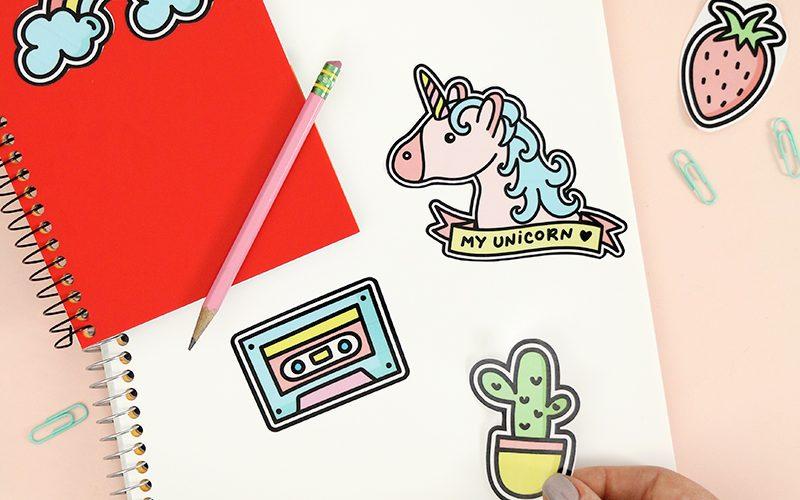 How to Work with Printable Vinyl: DIY Vinyl Stickers